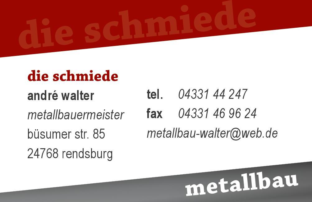 Visitenkarte Die Schmiede Walter De